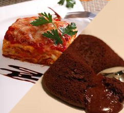 Lasagna and Lava Cake