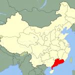 Map showing Guangdong