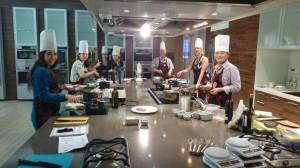 Mediterranean Cooking Class Preparations