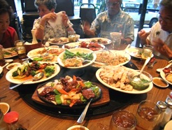 Chinese family eating Meal 246