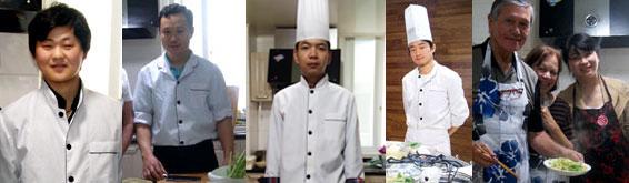 Chefs Zhang Zhen, Li, Cao, Liu