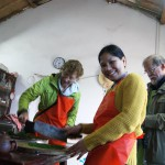 Cooking at Chongming Island Organic Farm