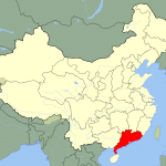 Map showing Guangdong