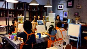 Oil painting Salon